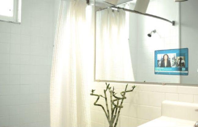 La maison du futur 4 5 la salle de bains pi ce for Miroir connecte