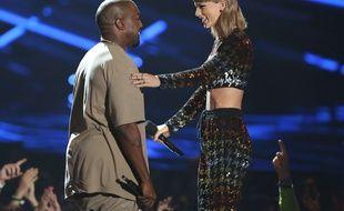 Le temps de l'entente entre Kanye West et Taylor Swift, ici aux MTV Video Music Awards en août 2015, semble révolu.
