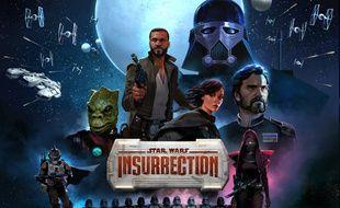 L'affiche du jeu vidéo Star Wars Insurrection.