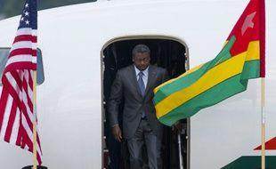 Le président du Togo, Faure Gnassingbe, arrive à la base aérienne de Andrews pour assister au sommet Afrique, le 3 août 2014.