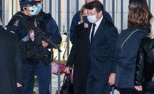 Christian Estrosi lors de l'hommage aux victimes de l'attentat, à Nice le 1er novembre 2020.