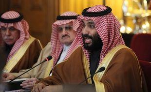 Le prince héritier saoudien Mohammed ben Salmane lors de sa rencontre avec Theresa May