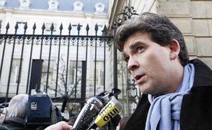 Arnaud Montebourg rue de Solférino le 24 février à Paris.