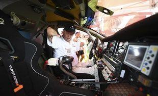 Philippe Croizon dans son buggy adapté le 30 décembre 2016.