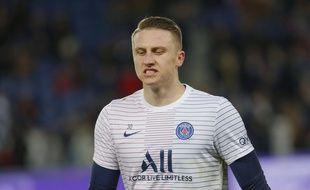 Marcin Bulka, le troisième gardien du PSG, ici lors de Paris-Lille en novembre 2019.