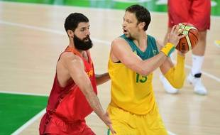 David Andersen (à droite), ici lors des JO de Rio contre Nikola Mirotic et l'Espagne.