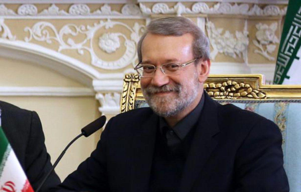 Le président du Parlement iranien, Ali Larijani, à Téhéran le 19 décembre 2015 – ATTA KENARE AFP