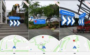 La navigation piétonne en réalité augmentée de Google Maps est disponible en version preview dans la bêta d'Android Q.