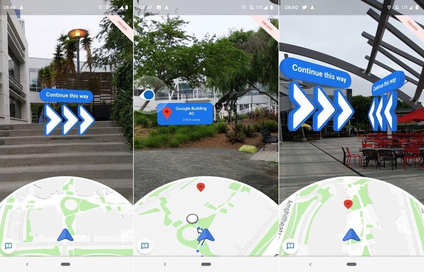 On a testé la navigation en réalité augmentée de Google Maps
