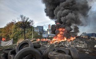L'usine Ascoval de Saint-Saulve était toujours bloquée, le 31 octobre 2018, pour faire pression sur le gouvernement qui réunissait, le même jour a Bercy les acteurs du dossier.