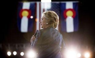 Hillary Clinton lors d'un meeting à Pueblo dans le Colorado (Etats-Unis), le 12 octobre 2016.