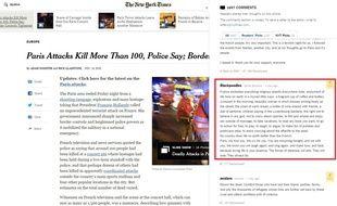 Capture d'écran du site du New York Times.