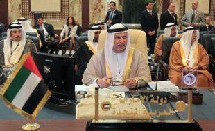 le ministre d'Etat émirati aux Affaires étrangères Anwar Gargash à Bagdad, le 29 mars 2012