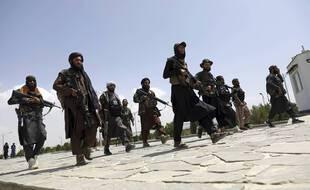 Des combattants talibans patrouillent à Kaboul, en Afghanistan, le jeudi 19 août 2021.