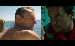 Lambert Wilson («L'Odyssée») à gauche ; Mark Wahlberg («Deepwater Horizon») à droite.