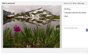Facebook se lance dans l'envoi de cartes postales.
