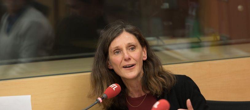 Elise Fajgeles, alors membre de l'équipe de campagne de Manuel Valls, en janvier 2017.