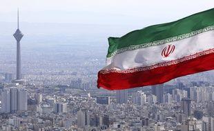 Le drapeau iranien à Téhéran, le 31 mars 2020.