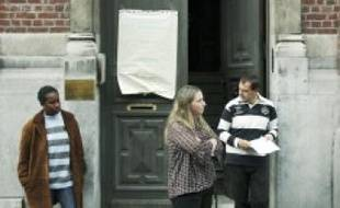 Devant le centre d'actionéducative  de la protection judiciaire de la jeunesse.