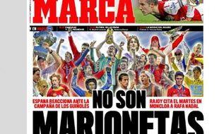Capture d'écran du quotidien espagnol Marca, le 10 février 2012.