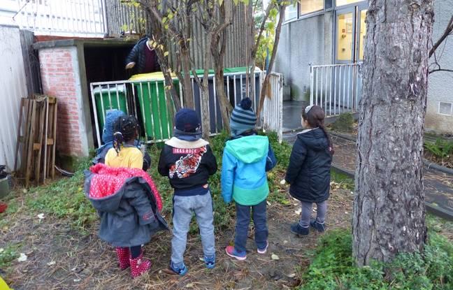 A l'école maternelle de la Pointe d'Ivry à Paris, les élèves sont sensibilisés au tri sélectif.