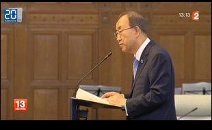 Ban Ki-moon, le secrétaire général des Nations unies, le 28 août 2013.