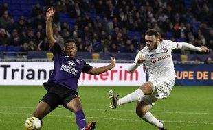 Amine Gouiri n'a connu qu'une seule titularisation avec le groupe professionnel cette saison, le 18 décembre contre Toulouse (4-1).