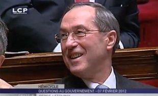 Claude Guéant, lors de l'intervention du député apparenté PS Serge Letchimy, qui a entraîné la suspension de séance, le 7 février 2012.