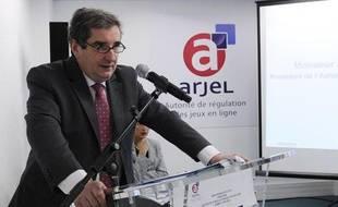 Jean-François Vilotte, président de l'Autorité de régulation des jeux en ligne (Arjel), le 8 juin 2010 à Paris.