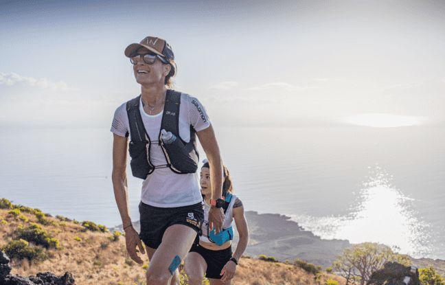 Camille Bruyas estime qu'elle vit « le bon équilibre», entre sa trentaine d'heures de travail en tant que kiné libérale et sa passion du trail.