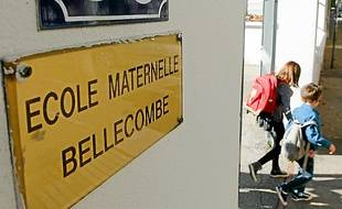 L'école maternelle BELLECOMBE de Lyon, le 9 septembre 2013. C Villemain/20 Minutes