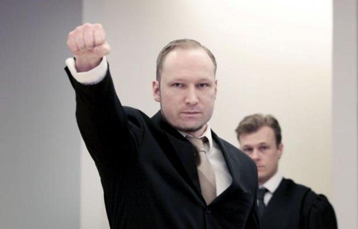 """""""Oui je le ferais de nouveau"""", a lancé Anders Behring Breivikau tribunal d'Oslo avant de demander l'acquittement, mardi au deuxième jour de son procès pour le massacre de 77 personnes qui avait débuté par le renvoi d'un juge – Hakon Mosvold Larsen afp.com"""