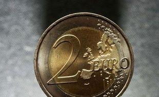 Illustration d'une pièce de deux euros.