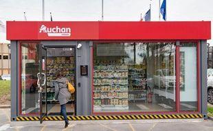 Le «Auchan minute» installé à Villeneuve-d'Ascq.