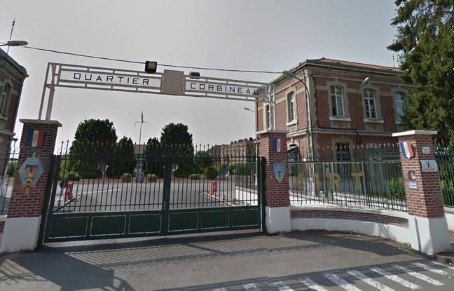 La caserne du 41e régiment de transmissions de Douai