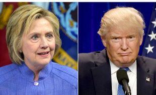 Un photomontage de photos de la candidate démocrate à la Maison Blanche Hillary Clinton, le 15 juillet 2016 et de son rival républicain Donald Trump, le 13 juin 2016