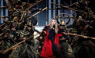 Madonna en concert (illustration).
