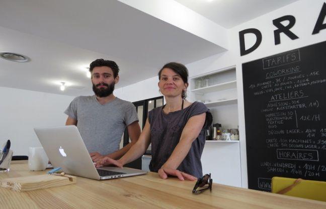 Anne Gautier et Quentin Billey ont lancé Draft, les ateliers connectés à la Halle Pajol sur l'esplanade Nathalie-Sarraute. L'inauguration, ouverte au public, aura lieu samedi 5 juillet de 12h à 20h.