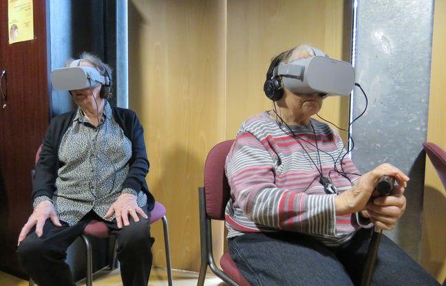 VIDEO. Rennes: Des résidents d'un Ehpad ont assisté à la messe grâce à la réalité virtuelle