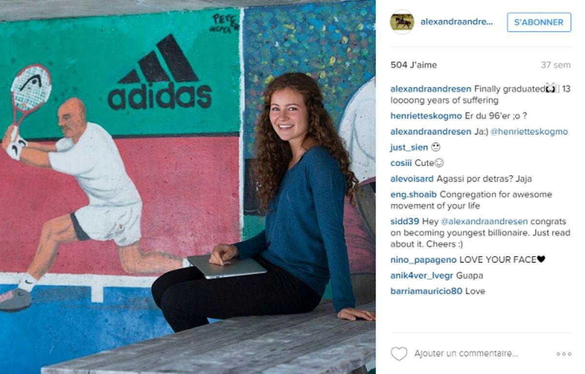 Alexandra Andersen est âgée de 19 ans. – Alexandra Andersen