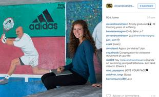 Alexandra Andersen est âgée de 19 ans.