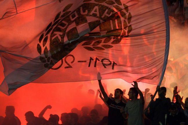 Les supporters de l'Hajduk, lors d'un match contre leur vieux rivaux du Dinamo Zagreb, en 2015.