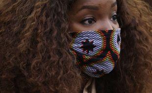 Cecile Djunga le 5 janvier 2021 à Bruxelles à la sortie du procès d'un homme accusé d'injures racistes à son encontre