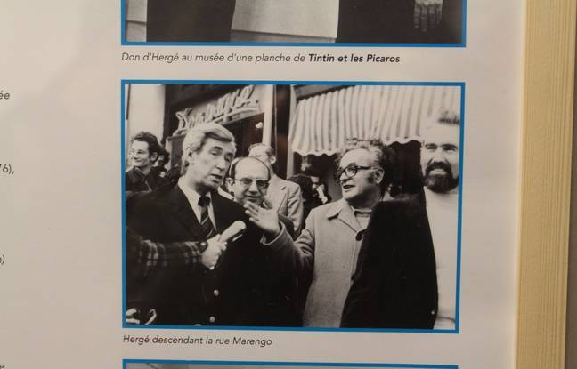 Hergé est venu au salon en 1977 pour la première fois, une consécration pour Francis Groux.