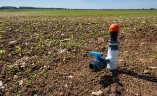 Un système d'irrigation dans un champ
