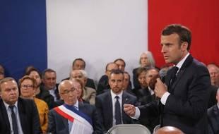 08c4f8c0f0a Emmanuel Macron en déplacement en Corse dans le cadre du Grand débat  national