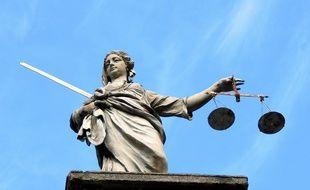 Une statue représentant la justice (image d'illustration).