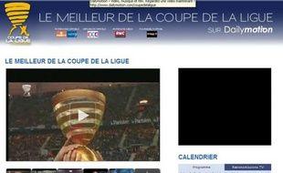 Dailymotion et la Ligue de football professionnel ont passé un accord pour diffuser les résumés des matchs de la Coupe de la Ligue, le 12 janvier 2009.