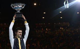 Novak Djokovic, vainqueur de l'Open d'Australie 2013.