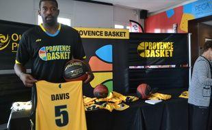 L'arrière de Provence Basket, Chris Davis, le 10 septembre 2014.